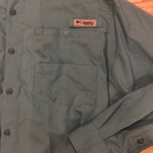 Columbia Shirts - Columbia Omni Shade PFG Solid Long Sleeve Shirt